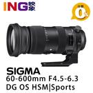 【映象攝影】SIGMA 60-600mm F4.5-6.3 DG OS HSM Sports 恆伸公司貨 飛羽鏡頭
