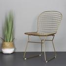 金屬椅美甲化妝椅網椅鐵絲椅電腦椅梳妝椅鐵藝餐椅WY