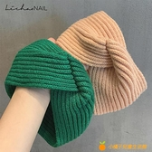 【買一送一】韓國手工柔軟針織棉交叉發帶日常運動風松緊頭帶發箍【小橘子】