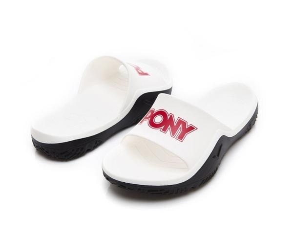 PONY 中性拖鞋 紅白黑-NO.92U1FL07RD