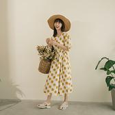 Queen Shop【01085608】方領滿版小雛菊印花綁帶洋裝*現+預*