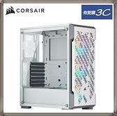 CORSAIR 海盜船 iCUE 220T RGB 鋼化玻璃機殼 白色