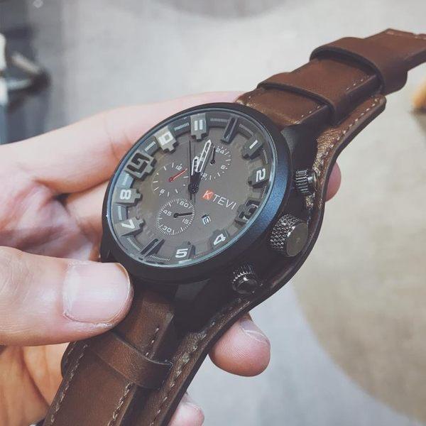 中國警運動手錶男潮流正韓個性學生抖音特種兵大錶盤男士超大潮男