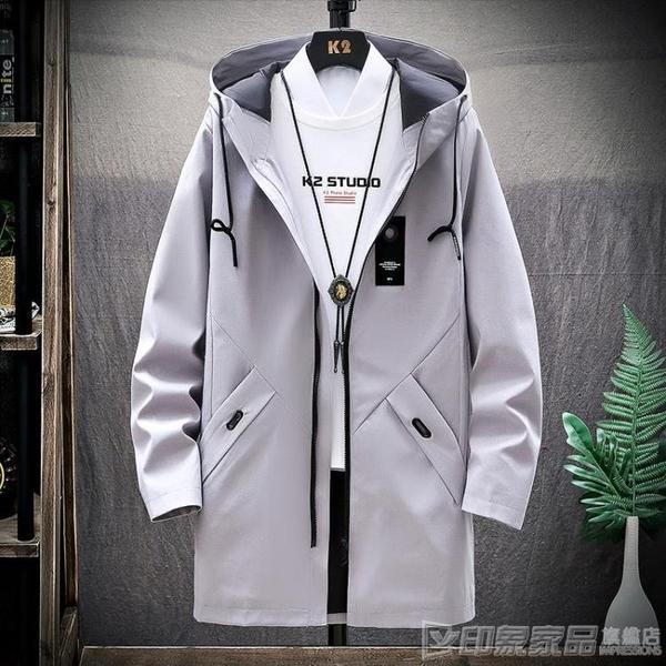 風衣男士休閒春秋季韓版服裝中學生潮流寬鬆青少年外套中長款夾克 印象