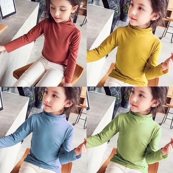 女童T恤 2020秋裝新款女童打底衫小中大兒童長袖t恤上衣洋氣莫代爾純棉冬