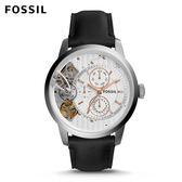 FOSSIL Townsman 休閒都會黑色機械錶 男
