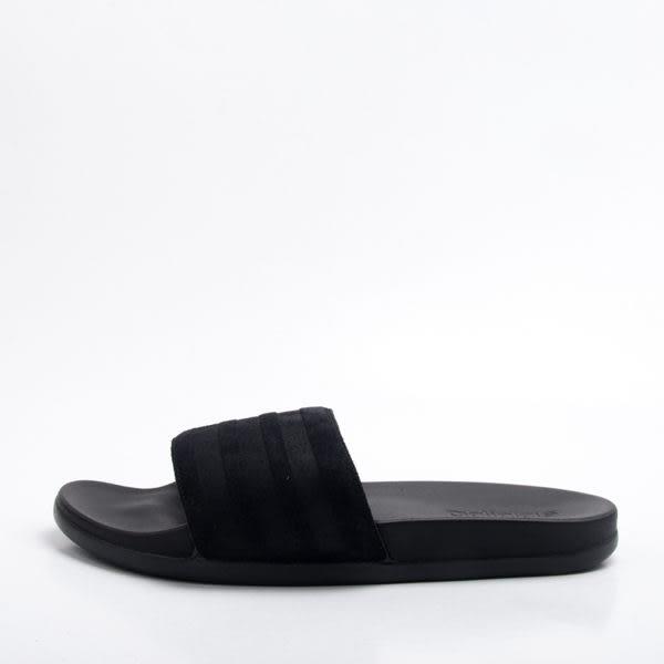 **Adidas Adilette Cloudfoam Plus 愛迪達黑色 麂皮 柔軟 輕量 運動 拖鞋 AQ2104
