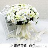 創意手捧花拍照婚紗照攝影道具仿真韓式婚禮新娘拋花手拿花束 辛瑞拉