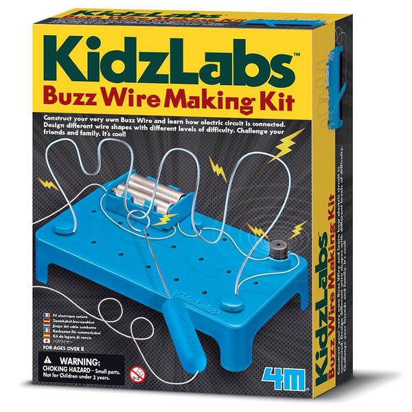 《4M科學探索》Buzz Wire Making Kit 科學系列之電路╭★ JOYBUS玩具百貨