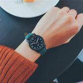 全館79折-森繫黑色手錶女個性黑歐美皮帶復古中學生日韓簡約休閒
