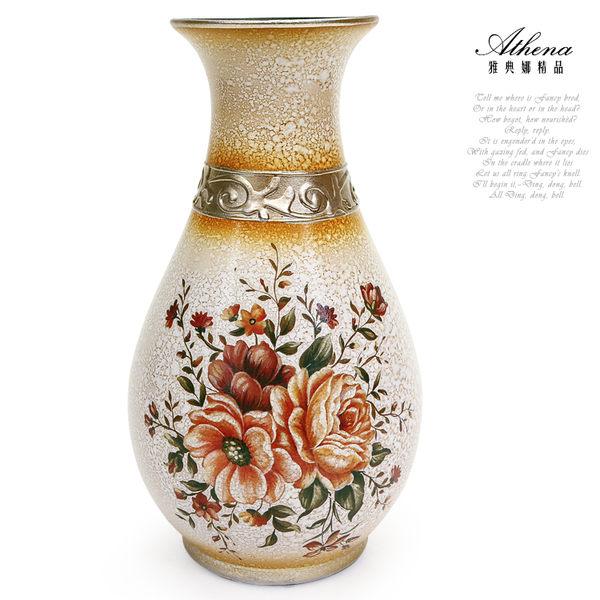 【雅典娜家飾】復古花卉大理石紋花瓶(大)-EH17