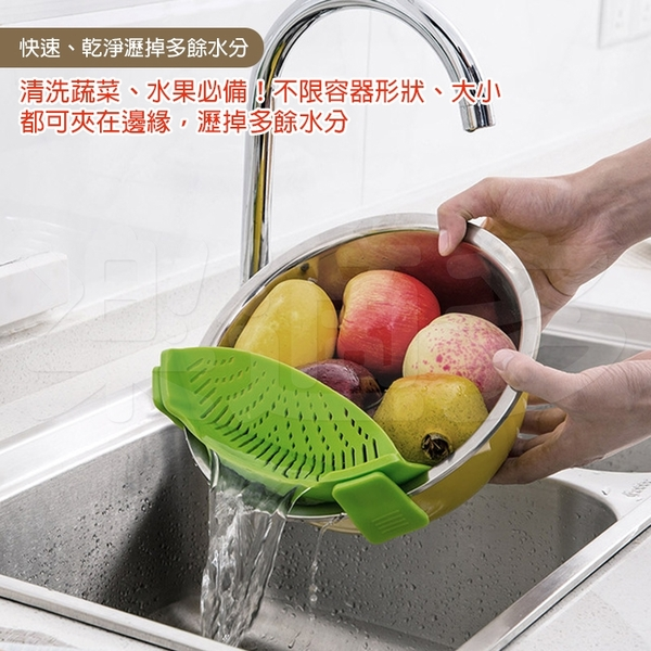 矽膠煮麵瀝水器 SJ208【隨機出貨】蔬果瀝水 煮麵網 煮麵漏勺 煮麵撈網