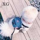 寵物牛仔書包 可愛牽引 狗狗泰迪約克夏牽引繩套裝 胸背帶 自背包 樂活生活館
