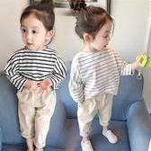 新款女童裝秋裝長袖T恤女寶寶打底衫兒童春秋純棉上衣1-2-3歲