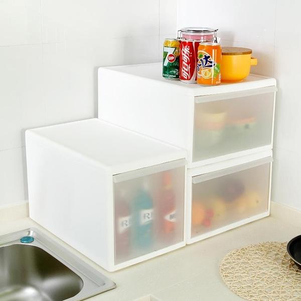 [超豐國際]可疊加抽屜收納箱塑料透明衣柜整理箱裝衣服玩具箱子收納盒