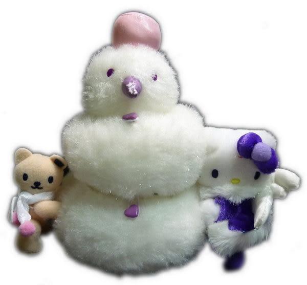 【震撼精品百貨】Hello Kitty 凱蒂貓~絨毛娃娃玩偶置物盒『雪人』