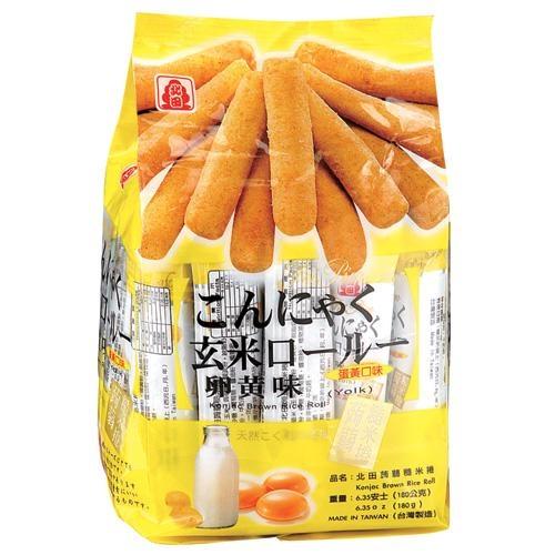 北田蒟蒻糙米卷-蛋黃口味160g【愛買】