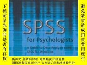 二手書博民逛書店Spss罕見For PsychologistsY255562 Nicola Brace Lawrence Er