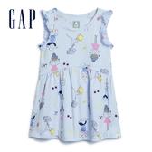 Gap女幼棉質舒適印花圓領上衣577353-多彩印花