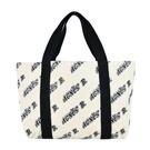 【南紡購物中心】agnes b. 標誌帆布雙面用手提包-小/米