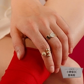 金色開口戒指女時尚個性韓版食指環【小檸檬3C】