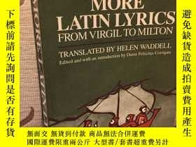 二手書博民逛書店More罕見Latin Lyrics, from Virgil