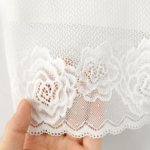 MIUSTAR 性感細緻玫瑰蕾絲雙層透氣彈力安全褲(共2色)【ND3364GW】預購