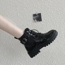 馬丁靴 顯腳小馬丁靴冬鞋2021年新款百搭英倫風女鞋厚底顯高網紅工裝短靴 快速出貨