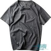 原創潮牌純色短袖t恤男士純棉打底衫青少年夏季潮流情侶圓領t恤【一條街】