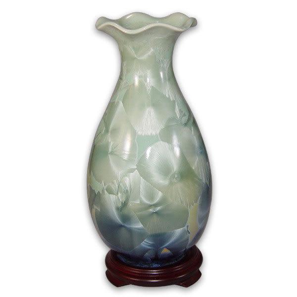 鹿港窯~居家開運結晶釉花瓶~12寸浪花瓶;購物清單:1件