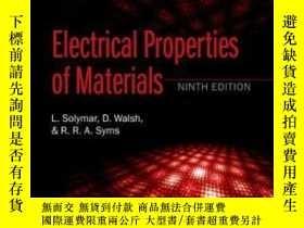 二手書博民逛書店Electrical罕見Properties Of Materi
