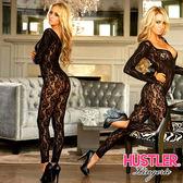 VIVI情趣 情趣睡衣專賣店 情趣商品 情趣睡衣 美國Hustler 叛逆小野貓 長袖一件式 性感刺繡蕾絲貓裝