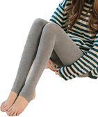 秋冬季灰色打底褲女厚款外穿加絨褲子踩腳連褲襪緊身加厚保暖棉褲