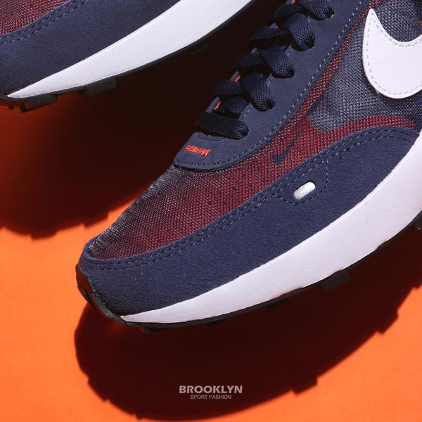 NIKE 休閒鞋 WAFFLE ONE 深藍橘 小SACAI 解構 輕量 男 (布魯克林) DA7995-401