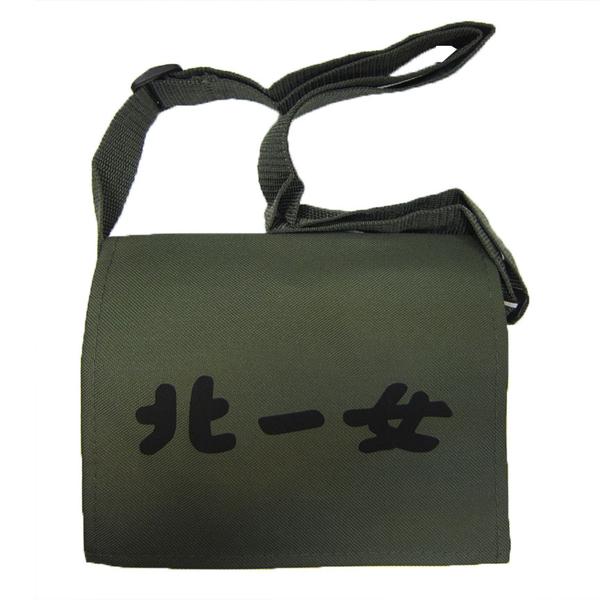 ~雪黛屋~Lian 簡單式書包北一女小容量防水尼龍布台灣製造品質保證加強車縫背帶耐承重#3246(中)