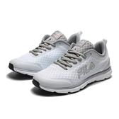 FILA 白 灰 網布 輕量 透氣 慢跑鞋 運動鞋 男女(布魯克林) 1J319R144 5J319R144