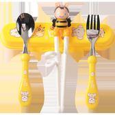 兒童筷子訓練筷嬰兒餐具吃飯勺子叉子寶寶學習練習筷輔食碗筷套裝【台秋節快樂】