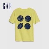 Gap 男童 舒適全息圖圓領短袖T恤 573634-黃色