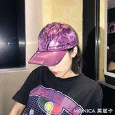 歐美街頭個性透明防水亮面棒球帽韓版chic休閒百搭鴨舌帽子男女潮 莫妮卡小屋