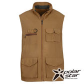 PolarStar 中性多口袋保暖背心『黃綠』P15203