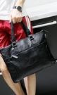 FINDSENSE Z1 韓國 時尚 潮 男 黑色 皮質 多功能 斜背包 手提包