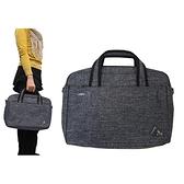 【南紡購物中心】文件包小容量可A4資料夾二主袋+外袋共四層防水尼龍底加大量布提肩斜側背