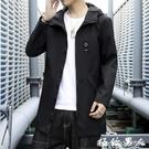 男生外套 風衣男韓版中長款潮流帥氣春秋薄款學生青少年休閒夾克工裝外套男『極致男人』