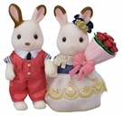 日本森林家族TOWN情人節組_EP29450(內含可可兔姊姊免子哥哥及玫瑰花束)