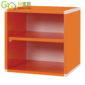 【綠家居】阿爾斯環保1 2 尺塑鋼雙格收納櫃11 色可選
