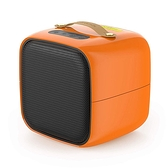 LifeBasis【日本代購】2秒快速加熱 陶瓷暖風機 電暖器 體積小 傾斜斷電–橙色