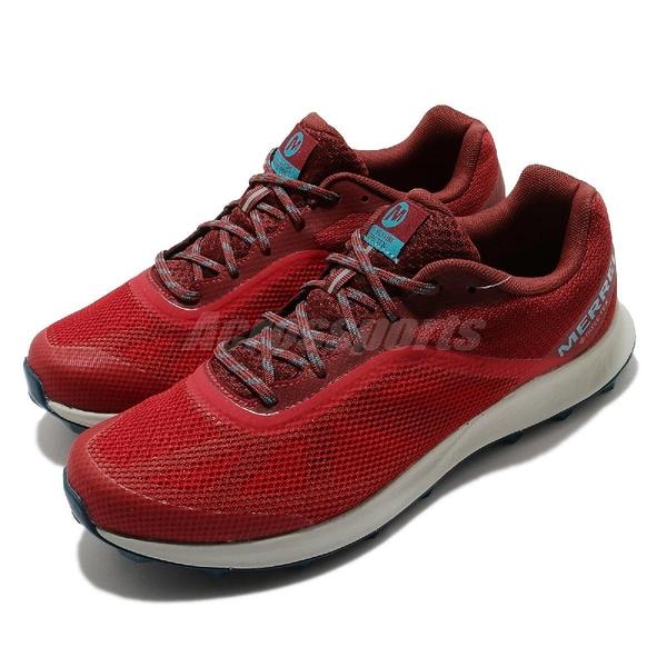 Merrell 慢跑鞋 MTL Skyfire GTX 紅 藍 女鞋 Gore-Tex 輕量越野 透氣 運動鞋【ACS】 ML066399