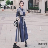 長袖連身裙女氣質收腰顯瘦絲絨長裙【時尚大衣櫥】