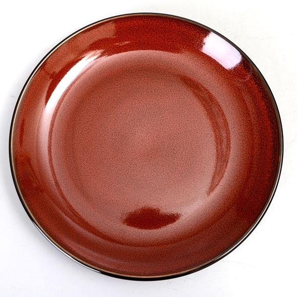 【Luzerne】陸升瓷器 Rustic 18cm 圓盤-酒紅色 /RT1201018
