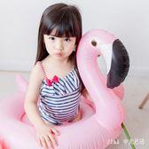 兒童水母衣泳衣女孩連體條紋小星星海軍風公主寶寶度假沙灘游泳衣 nm2790 【Pink中大尺碼】